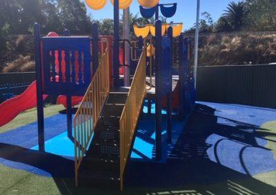 newly installed playground equipment